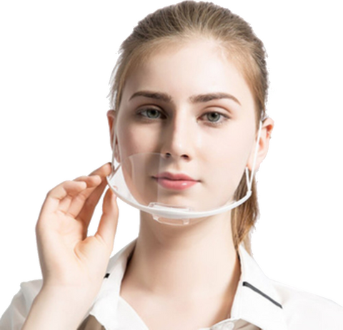 Transparent washable protective mask (10 pieces)